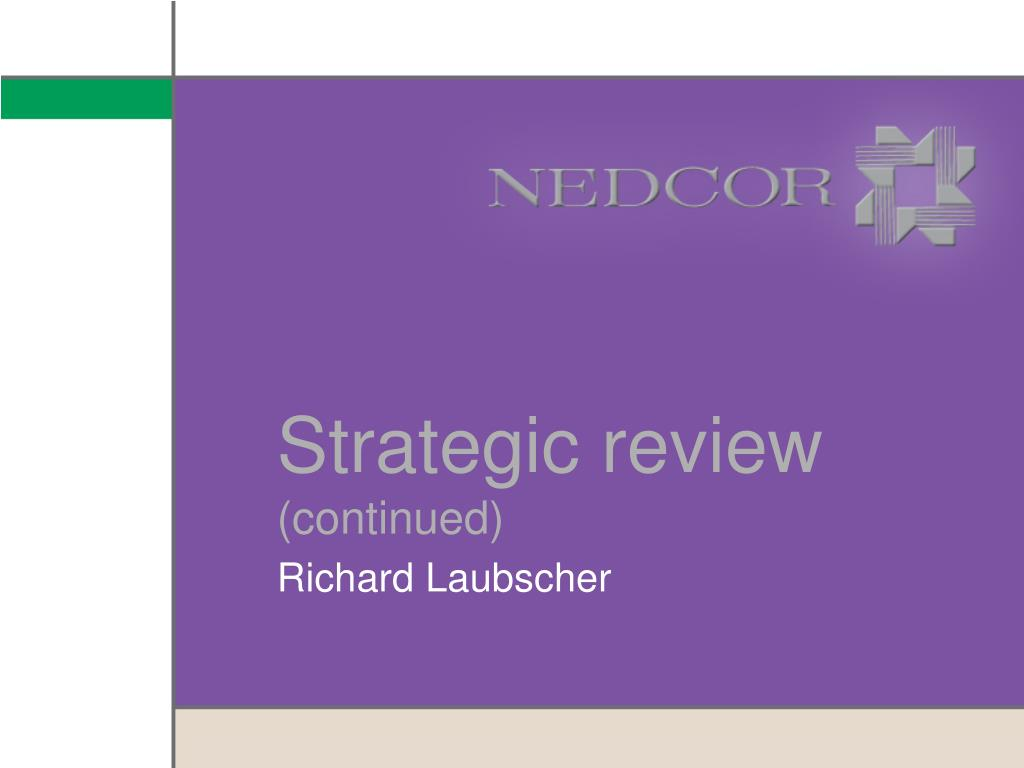 Strategic review