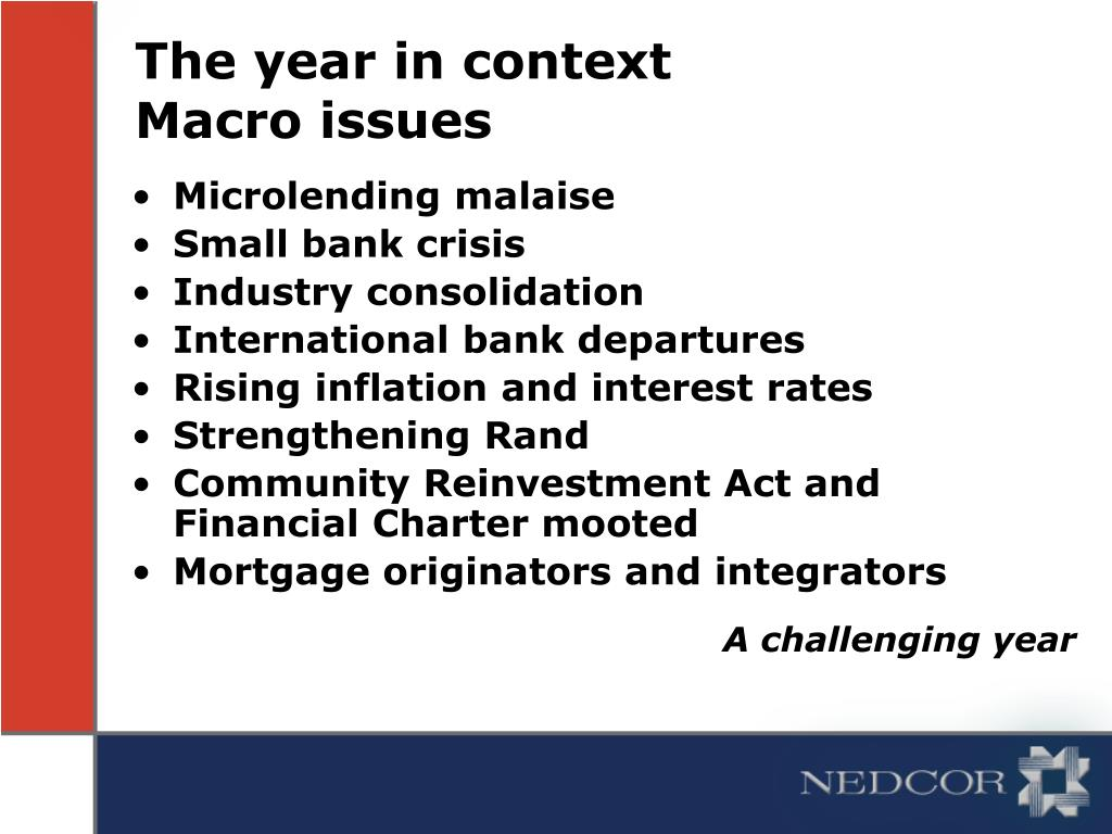 The year in context