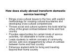 how does study abroad transform domestic service learning