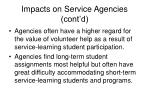 impacts on service agencies cont d