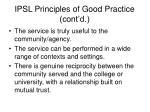 ipsl principles of good practice cont d8