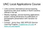unc local applications course