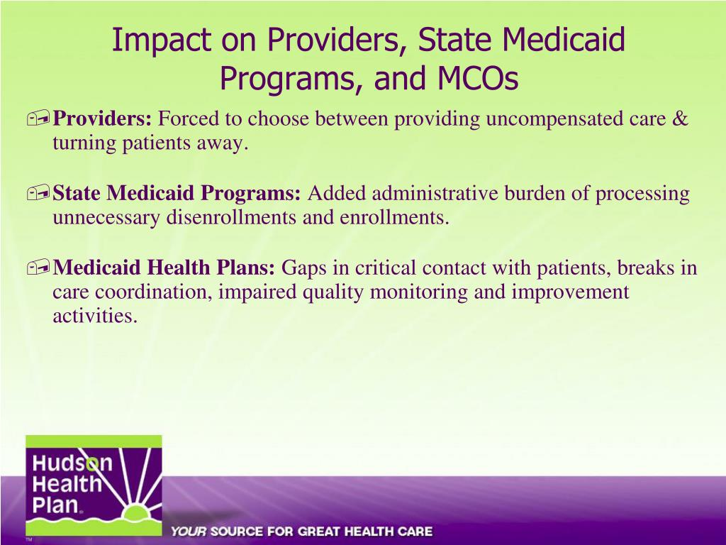 Impact on Providers, State Medicaid Programs, and MCOs