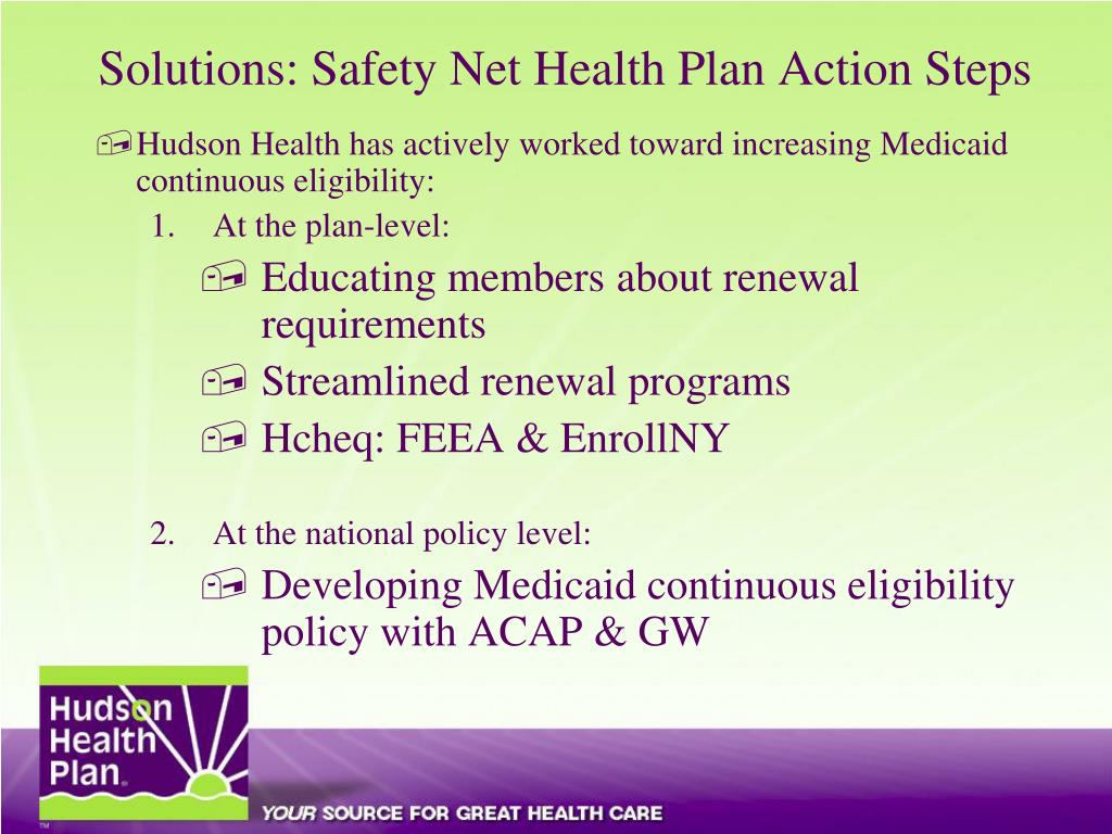 Solutions: Safety Net Health Plan Action Steps