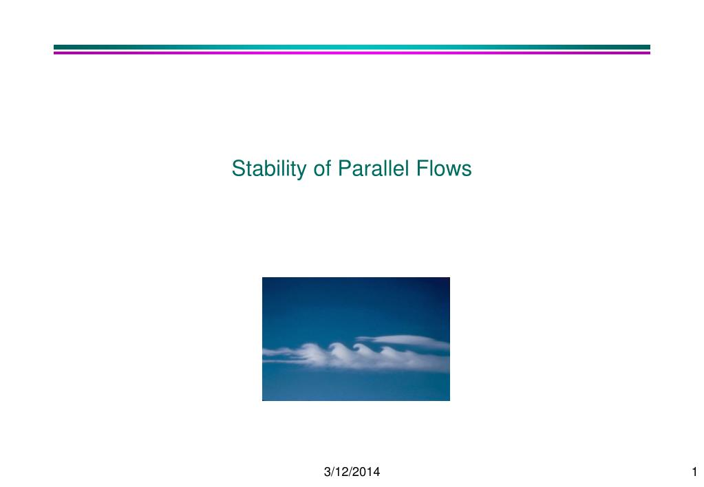 Stability of Parallel Flows