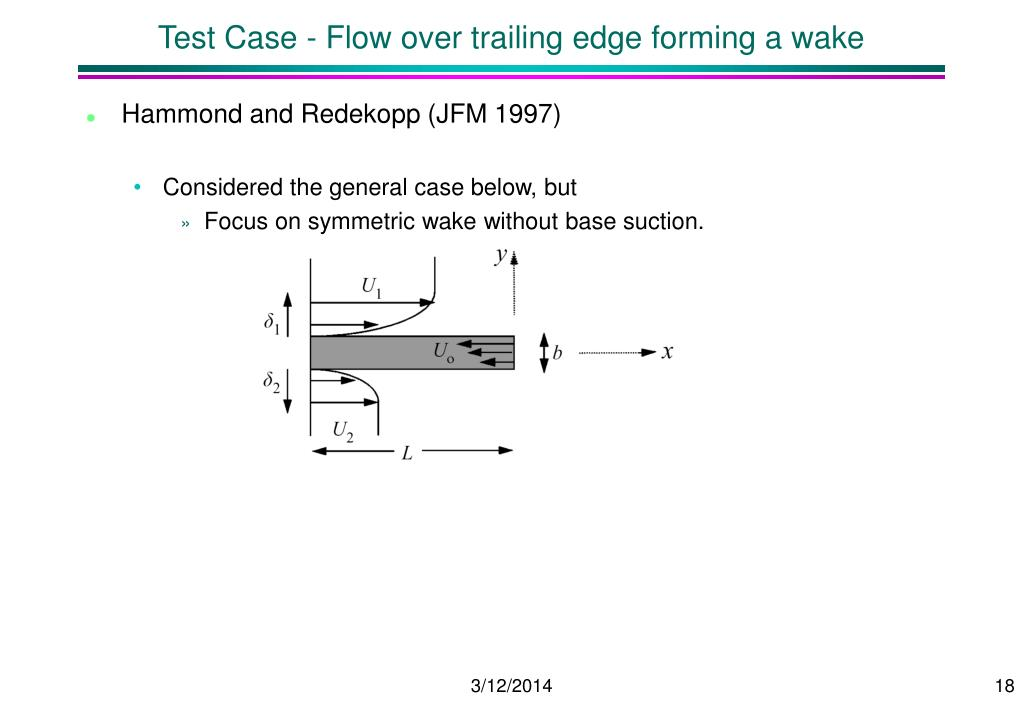 Test Case - Flow over trailing edge forming a wake