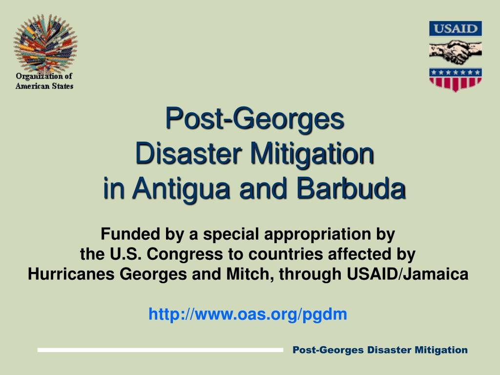 post georges disaster mitigation in antigua and barbuda