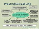 project context and links