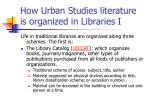 how urban studies literature is organized in libraries i