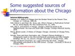 some suggested sources of information about the chicago