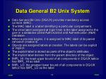 data general b2 unix system