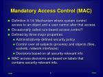 mandatory access control mac