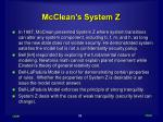 mcclean s system z