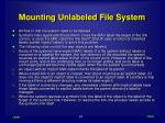 mounting unlabeled file system