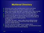 multilevel directory