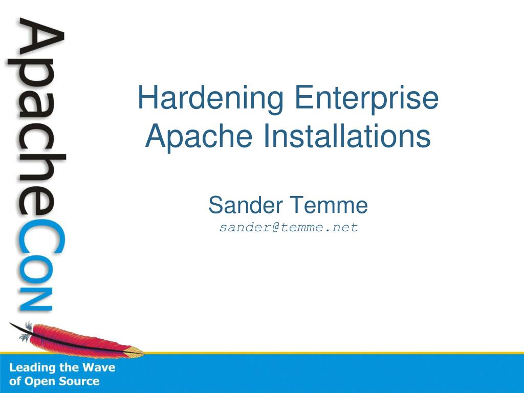 hardening enterprise apache installations l.