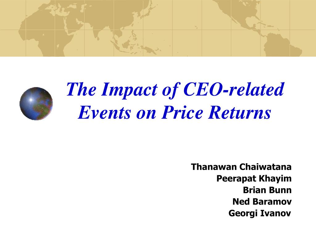 the impact of ceo related events on price returns l.