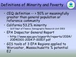 definitions of minority and poverty
