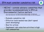 epa must consider cumulative risk