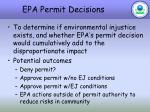 epa permit decisions