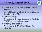 first ej spatial study
