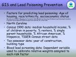 gis and lead poisoning prevention