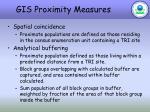 gis proximity measures
