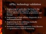 apex technology validation