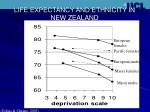 life expectancy and ethnicity in new zealand