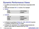dynamic performance views