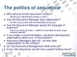 the politics of assurance