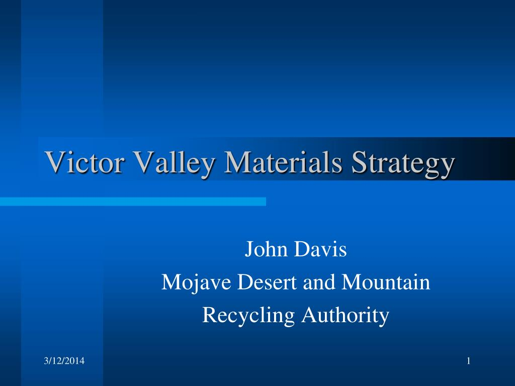 victor valley materials strategy
