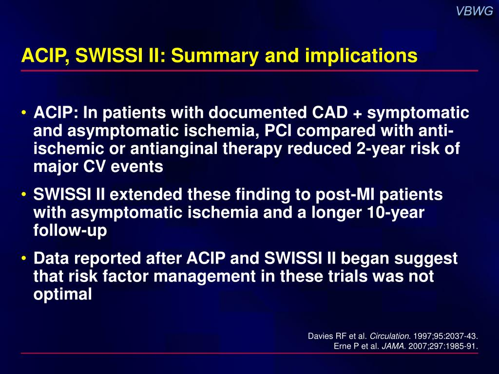 ACIP, SWISSI II: Summary and implications