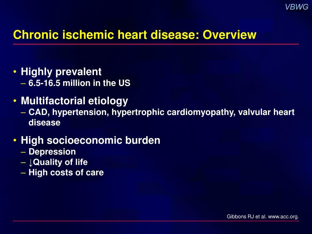 Chronic ischemic heart disease: Overview