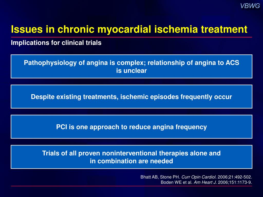 Issues in chronic myocardial ischemia treatment