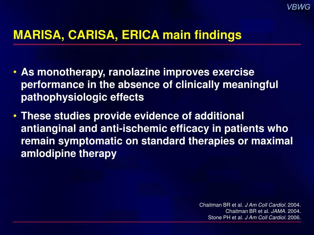 MARISA, CARISA, ERICA main findings