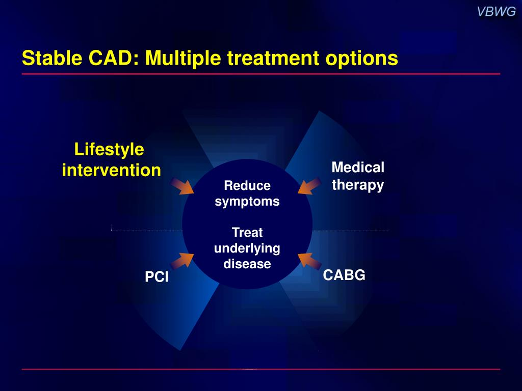 Stable CAD: Multiple treatment options