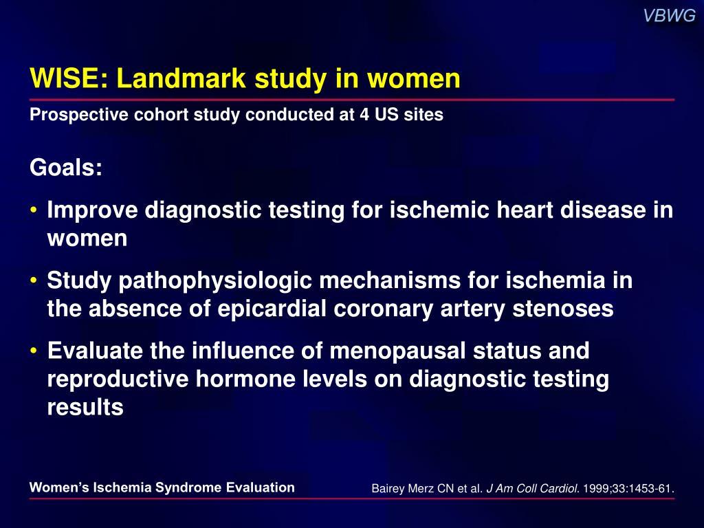 WISE: Landmark study in women