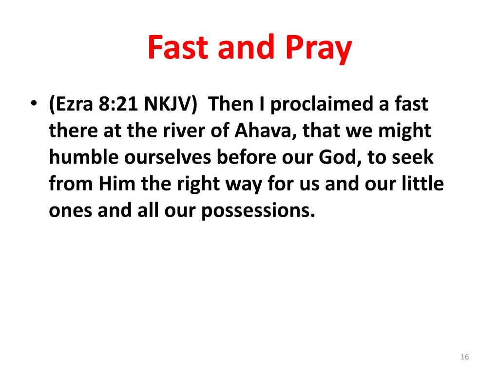 Fast and Pray