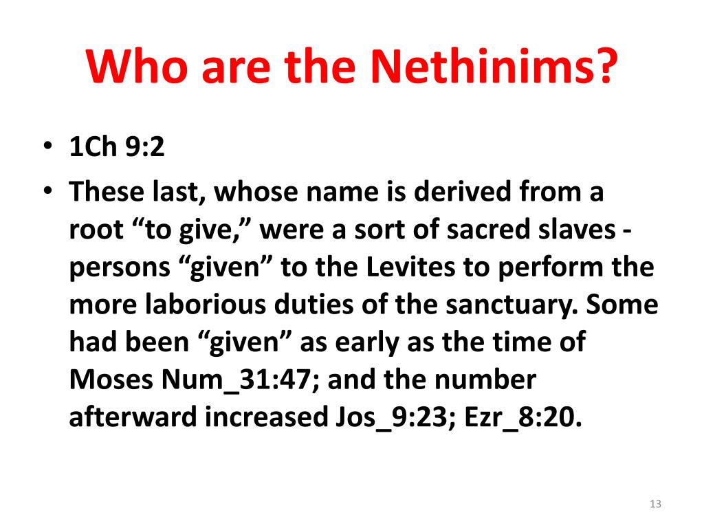 Who are the Nethinims?