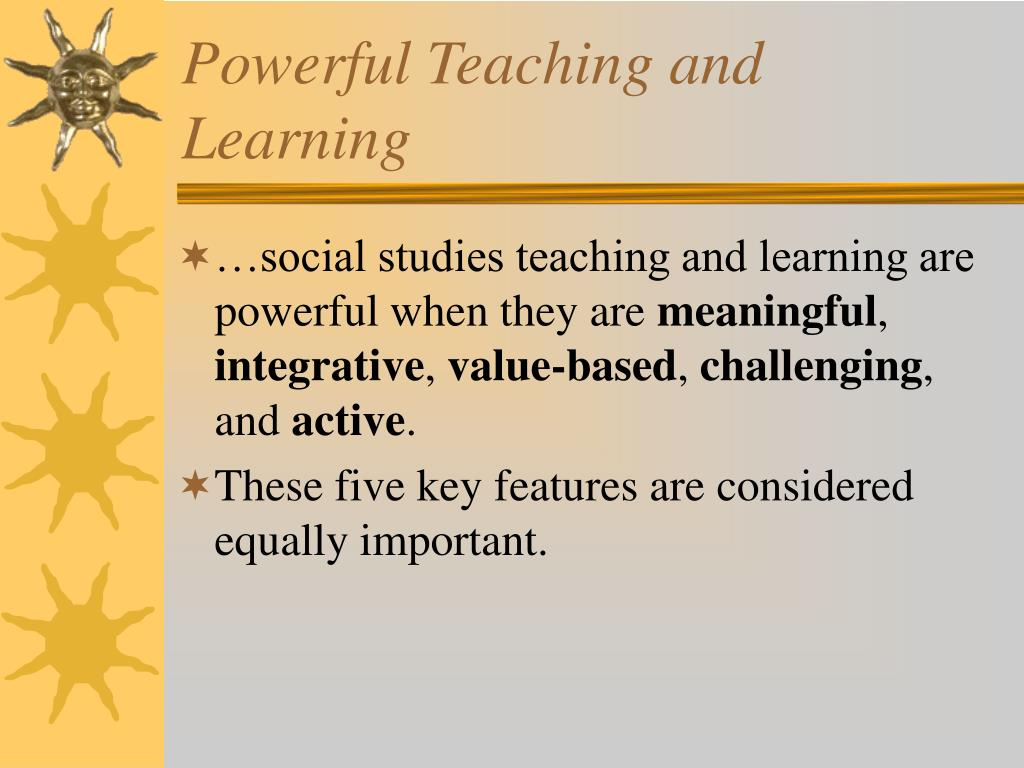Powerful Teaching and Learning