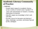 academic literacy community of practice