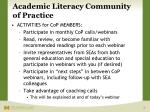academic literacy community of practice7