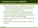 problem focus of create