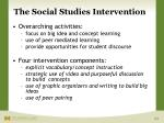the social studies intervention