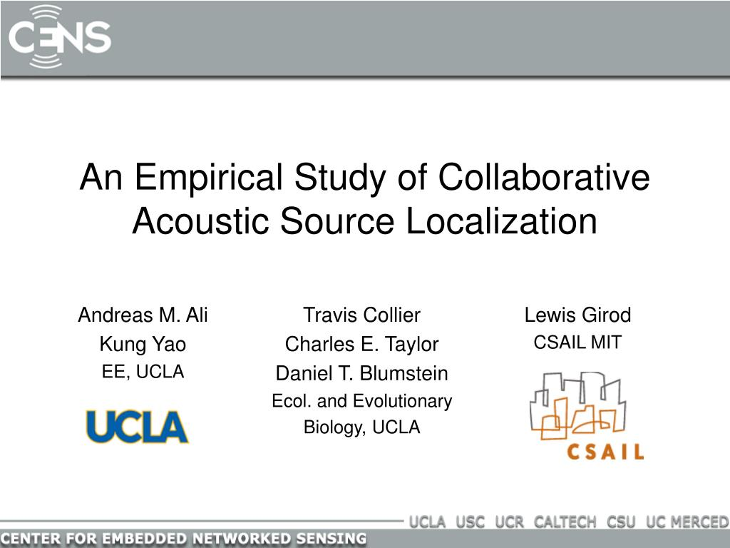 an empirical study of collaborative acoustic source localization l.