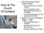 knox the church of scotland