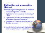 digitisation and preservation cont6