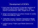 development of scm s