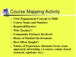 course mapping activity